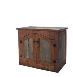 rustic barnwood wall cabinet | Custom Rustic Furniture by Don McAulay Rustic TV Lift Cabinet 2 Door: