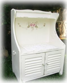 Shabby Cottage Child Size Kitchen Cupboard. Love this look