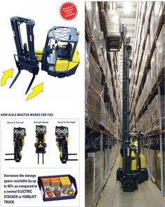 Aisle-Master Articulated Forklift Vacuums, Vacuum Cleaners