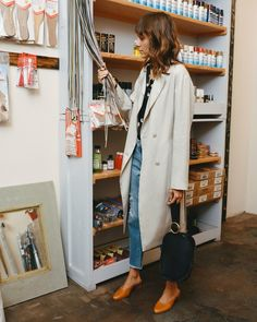 Model turned shoe designer Mari Giudicelli always puts shoes first when it comes her 9-to-5 style.