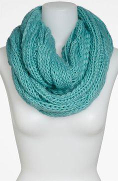 BP. Chunky Knit Infinity Scarf Womens Green Splash