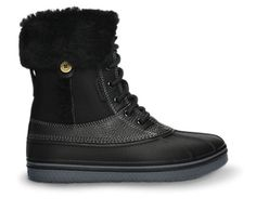 Weather changes…your shoes don't have to. Introducing the luxury version of our AllCast Duck Boot. You get extra warmth and water-resistance, with premium leather, sealed seams, water-resistant uppers, and a full Sherpa lining for warmth. All that, plus still light enough to wear all day. The duck boots that feel like sneakers! Free shipping on qualifying orders.