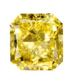 0.50 Carat Fancy Intense Yellow Radiant Diamond
