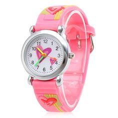 New 2015 Children Cartoon Watches Fashion Waterproof Silicone Watch Quartz Wristwatches Child Gifts 5 pieces/lot Free Ship