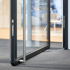 With the air-lux pivot door, one does not have to make any compromise. air-lux pivot doors offer several advantages: - Door sizes up to 15 m² (three metres wide, five metres high) - Door weight up to 1500kg - Glass thickness up to 60 mm (alarm glass or bullet-proof safety glass possible) - 100% impermeability through the air-lux pneumatic sealing system - Wide range of materials like glass, wood, steel or architectural bronze/stone - 10-year guarantee  #pivot #airluxwindows #pivotdoor Pivot Doors, Panel Doors, Entry Doors, Seamless Transition, Sliding Windows, Glass Facades, Wood Steel, Thermal Insulation, Safety Glass