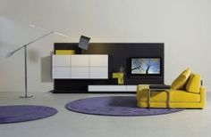 contemporary wooden TV wall unit - THESIS - ArchiExpo