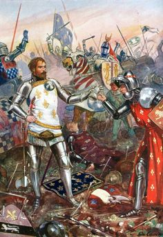Surrender of King John of France at the Battle of Poitier