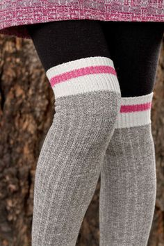Pook Knee Socks - these resemble the classic sock monkey socks, but with a refreshing pink top band! No worries to the traditionalists - we should be getting the classic red band in a month or two!