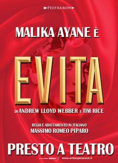 Malika Ayane incontra il mito di Evita Perón nel nuovo musical firmato da Massimo Romeo Piparo: sarà infatti la cantante milanese a vestire i panni della protagonista. #malikaayane #evita #ayane [Stagione teatrale 2016-2017]