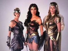 General Antiope, played by Robin Wright, Diana Prince/Wonder Woman played by Gal Gadot and Queen Hippolyta played by Connie Nielsen.