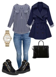 """""""Untitled #37"""" by luxorarima on Polyvore featuring H&M, Giuseppe Zanotti, Marc by Marc Jacobs and Yves Saint Laurent"""