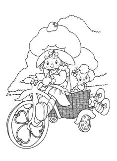 Original Strawberry Shortcake coloring page.