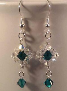 wire wrapped handmade dangle earrings by ToadsLilyPondJewelry, $21.99