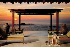 Sunset dinner for two? Cozy up in your casita for margaritas and local Mexican cuisine... (For Seasons Resort Punta Mita, Mexico)