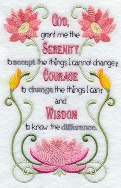 God Grant Me the Serenity Embroidered Quilt by AliDianneCreations, $18.00