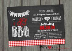 I do bbq I do bbq wedding shower invitation by PartyInvitesAndMore