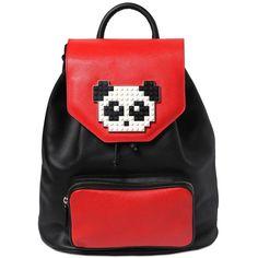 5158a727a4b2e LES PETITS JOUEURS Freddy Panda Lego On Leather Backpack (68.955 RUB) ❤  liked on · PortmonetkiTorebkiTorby