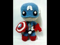 Crochet Captain America Sackboy Doll - YouTube