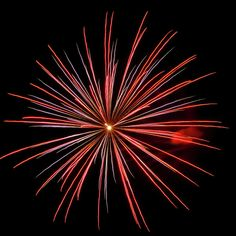 Colorful Fireworks 4 by Cynthia Woods