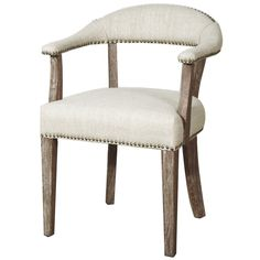 Egan Bonded Nail Head Upholstered Dining Chair