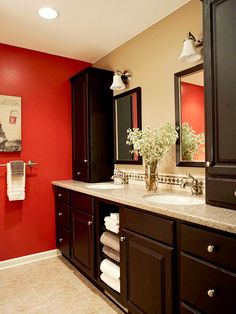 Before: Space Challenge After: Bountiful Bathroom Storage