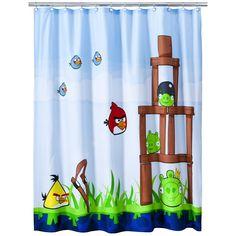 "Angry Bird Shower Curtain - 72x72"""