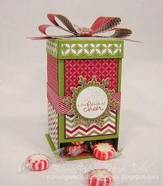 Christmas Candy Dispenser Box by Runningwscissorsstamper