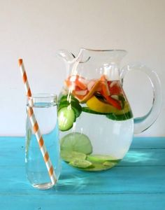 Peppermint Grapefruit Detox Water