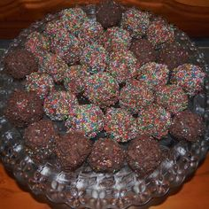 Your Inspiration At Home Chocolate Raspberry Truffle Rainbow Balls. #YIAH