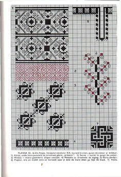 *etnobiblioteca*: Culegere de cusături populare de Leogadia Ștefănucă Graph Design, Simple Cross Stitch, Blackwork, Embroidery Designs, Sewing, Crochet, Handmade, Bridal Dresses, Patterns