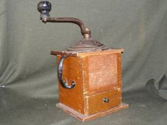 DONE:  my great grandparents wedding present from 1891.  Antique coffee grinder