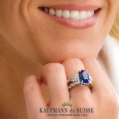 Stunning Ceylon Sapphire Ring from Kaufmann de Suisse in Palm Beach. Jewelry Art, Jewelry Rings, Jewelery, Fine Jewelry, Palm Beach Florida, Diamond Rings, Diamond Jewelry, Gemstone Rings, Ceylon Sapphire Ring