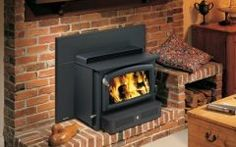 Perfect Insert Wood Stove Into Fireplace