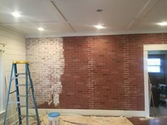 How to Build a Faux Brick Wall | the restoring house