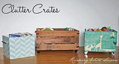 Clutter crate Tutorial (left and center)