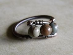Copper Picasso Jasper Bypass Ring