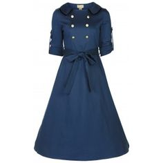 Velma Slate Tea Dress | Vintage Inspired Fashion - Lindy Bop