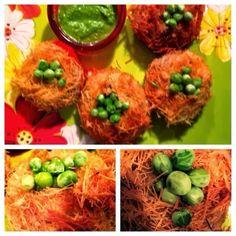 Homemade Veg Zone: Vegetable Birds nest Cutlet