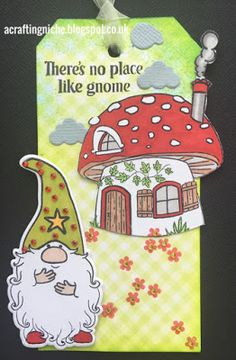 A Crafting Niche: Gnome Tag (using Papercraft Essentials - issue 150 free stamps)