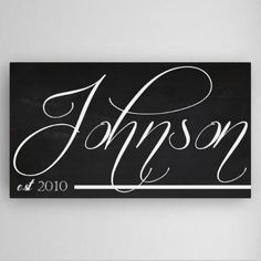 Personalized Family Chalkboard Canvas