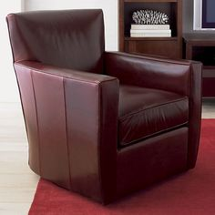 Trevor Leather Chair In Chairs | Crate And Barrel | Michael K. | Pinterest  | Crates, Barrels And Leather