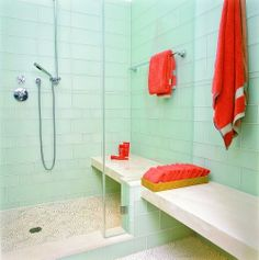 shower bench inside
