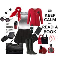 book worm, created by polychic on Polyvore