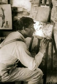 """Artist and Studio — Marc Chagall """"Only love interests me, and I am..."""