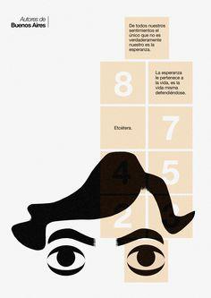 Julio Cortazar illustration by Jamie Ansell