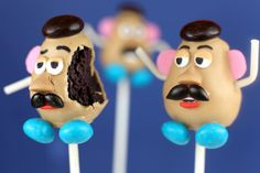 Mr. Potato Head cake pop.... chocolate and peanut butter....is it worth the effort...... I think so!