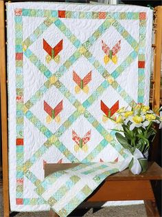 table runner patterns for quilting   Petit Papillon Quilt and Table Runner Pattern LLD-047