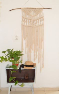 Gorgeous macrame wall hanging to lend a bohemian feel to your bedroom, living Room, wedding or workspace, this macrame will add instantly warmth and texture to any room of your house! All of my macrames are handmade with love by mylself    45 x 39, 139cm x100cm incloud the wood made with 100 % natural cotton rope   ^^^^^^^^^^^^^^^^  CUSTOM ORDERS: Want a smaller or larger size? Or a different style that represents you or a loved one? Just send me a convo.  ^^^^^^^^^^^^^^^^^  Please contact…