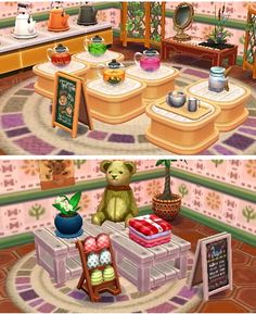 ~Part 2 of 2~ Opened a new store in my Happy Home Designer Town :) An Afternoon Tea shop which sells Tea, Pajama's, Slippers etc. All you need for a relaxing afternoon :)