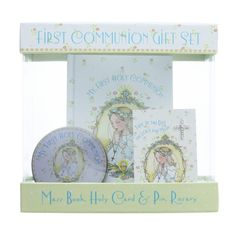 Mary  Engelbreit First Communion Gift Set for Girl - Mary Engelbreit's whimsical designs have delighted and charmed young girls for years. Now she has used her art to convey the fresh and girlish innocence of the First Communicant.
